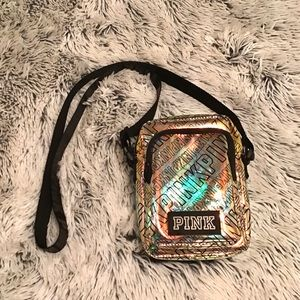 VS PINK holographic clear plastic crossbody